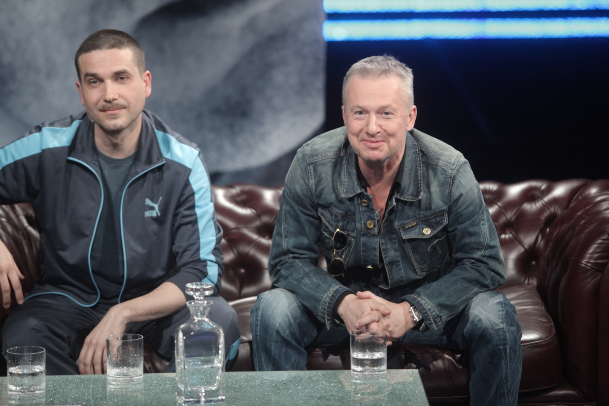 Bogusław Linda i Marcin Dorociński